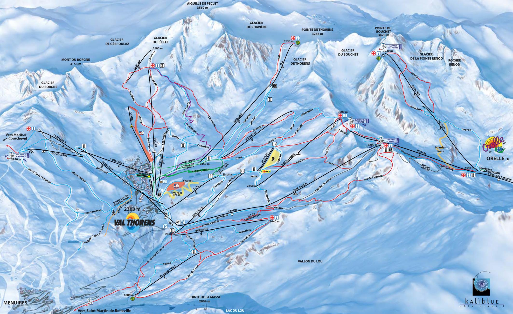 Plattegrond Skigebied Val Thorens