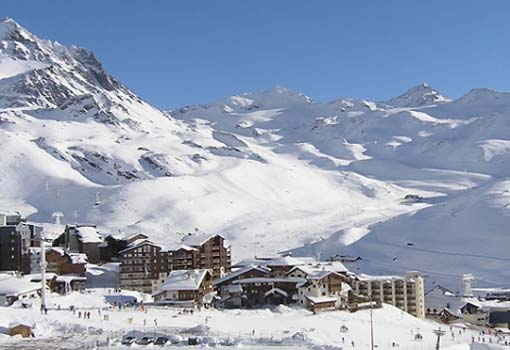 Impressie van wintersport in Val Thorens